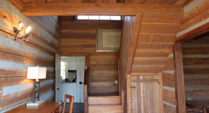 cabin Foyer and Stairs To Second Floor Bedrooms